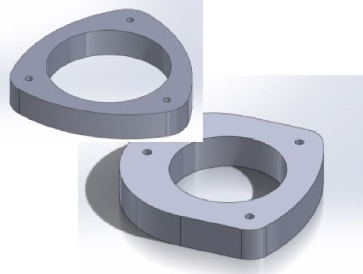 "Set of 1"" Strut Spacers 93-01 Impreza/WRX - Click Image to Close"