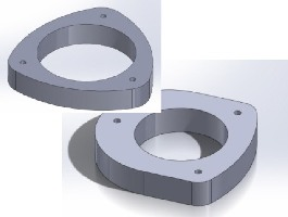 "Set of 1"" Strut Spacers 2002-2007 impreza/WRX"